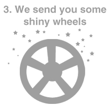 We send your wheels